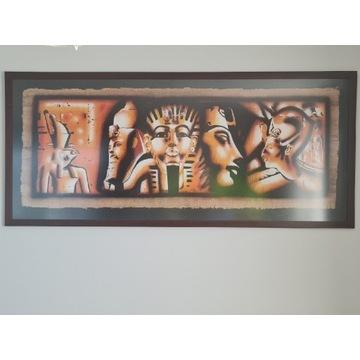 Obraz w drewnianej ramie i szybą z antyrefleksem