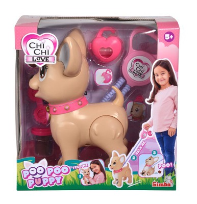 Simba Toys Chi Chi Love Poo Poo Puppy brązowy
