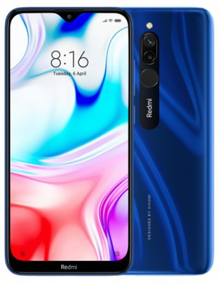 "Xiaomi Redmi 8 15,8 cm (6.22"") 4 GB 64 GB Dual SIM Niebieski 5000 mAh"