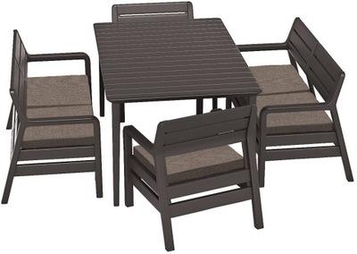 комплект садовой мебели DELANO Лима 6 человек бронза