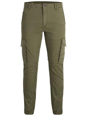 Spodnie męskie JackAndJones JJIPAUL khaki r33/32