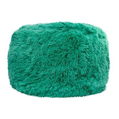 Puf dekoracyjny KING futro XL zielony