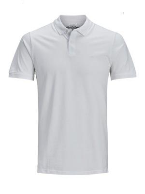 Koszula polo Jack And Jones JJEBASIC biały rXXL