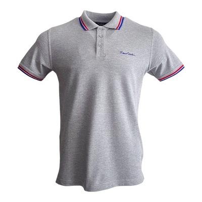 Koszulka męska polo Pierre Cardin szara r. XL