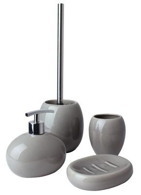 комплект Ванны щетка туалет Серый Раздавить керамическое