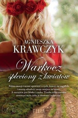 Warkocz spleciony z kwiatów Agnieszka Krawczyk