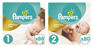 Pampers Premium Care 1 Novorodenca + 2 Mini 168 Ks