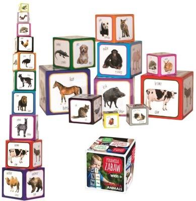 PIRAMIDA ZABAW DWUJĘZYCZNA Montessori ZWIERZĘTA +1