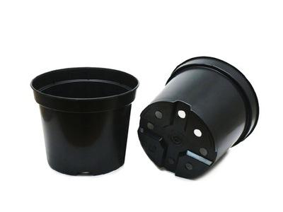 Hrnce kolo 19 cm 3L 100 Ks čierna kvetináč