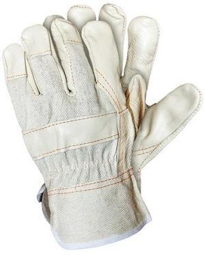 Rękawice ochronne wzmacniane skórą skóra RLJ 1p