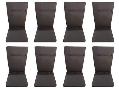Univerzálny vankúše pre záhradné stoličky 8 sivá