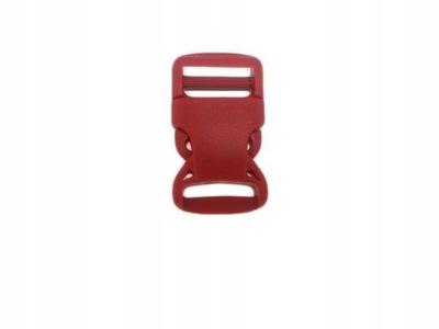 Klamra 25mm Zapięcie plastik Czerwona 5szt