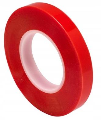 9мм лента двусторонней клейкой двусторонняя красная