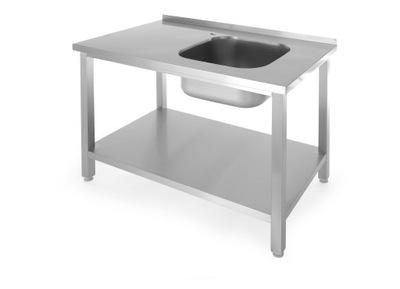 стол с раковиной и полка, витая 1000x600x(H)850 мм