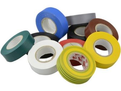 Elektro-izolačné pásky 19 mm PVC/20m 10pcs MIX