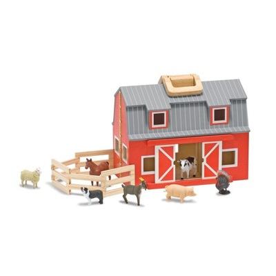 Hračky pre deti, drevené Stodoly, hospodárske Zvieratá