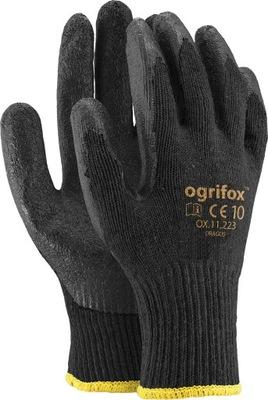 перчатки рабочие покрытием latex DRAGOS черные 10