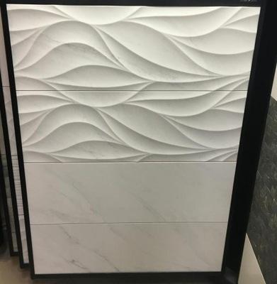 p�ytki Ścienne pikowane �azienka fala bia�a dekor