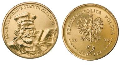2 zł(2006) - 500. lecie wydania Statutu Łaskiego