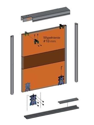 Система двери раздвижных шкаф GTV 2 ,5м/2d ALU