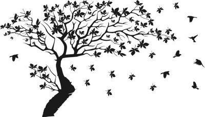 наклейки__ на_ стену instagram наклейка деревья 180x180