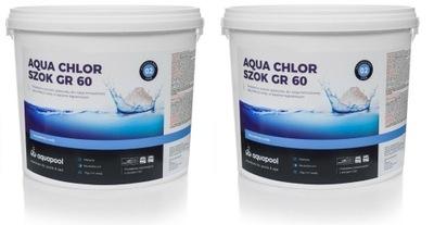 10 kg Aqua Chlór Šok GR60 2 x 5 kg granúl chémie