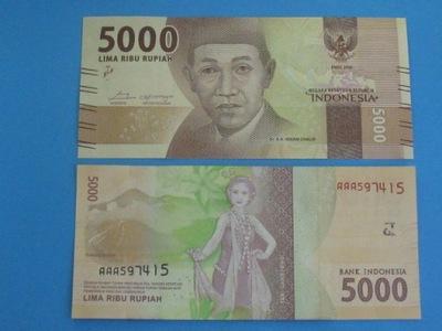 Индонезия 5000 Rupiah ААА !! 2016 UNC 6 цифровой !!