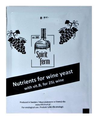 POŻYWKA winiarska z Wit B SiritFerm na 25L