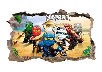 Nástenná samolepka - Nástenný nástenný plagát LEGO NINJAGO! 3D XL!