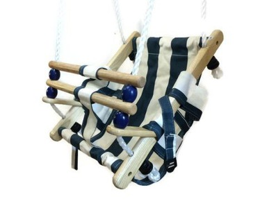 Heze drevené hojdačky pre deti RETRO