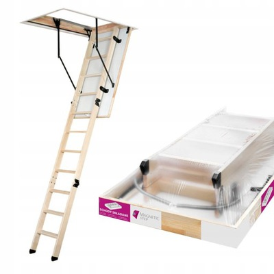 Лестница ?? чердак Дерево люк белая 60x120 280cm