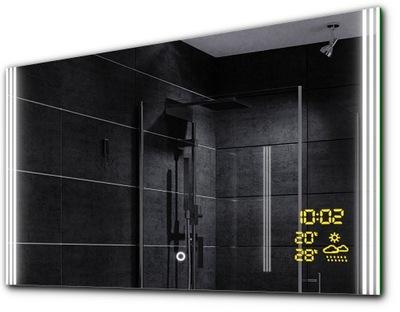 Zrkadlá (LED), Zrkadlo na kúpeľňa LED počasie dotyk 100x70 ARICA