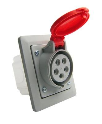 Zásuvky napájania 32A 5P IP44 flush-montáž Napájania