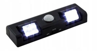 LAMPY, 8 LED SNÍMAČA POHYBU BLACK