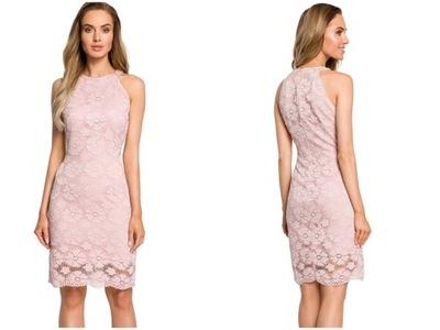 5e50e5f1689080 Koronkowa sukienka z odkrytymi ramionami S 7714776181 - Allegro.pl