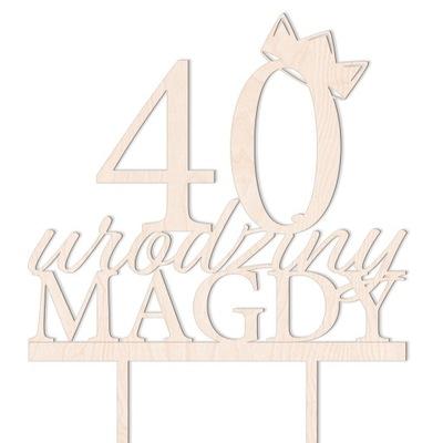 ТОППЕР НА ТОРТ день рождения НАДПИСЬ 20 30 40 50 60 TOPER