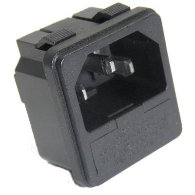 5szt. C14 3pin wtyk z gn. bezpiecznika do obudowy