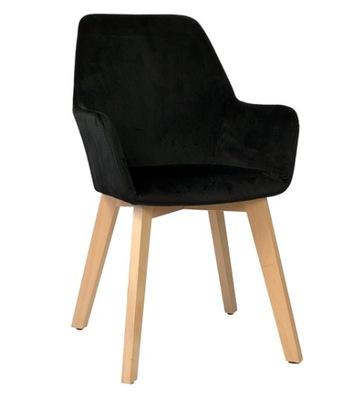Мягкий стул Stone Velvet black