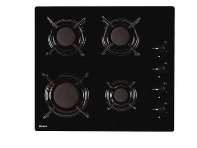 черная плита газовая Amica PG6510S На Стекле