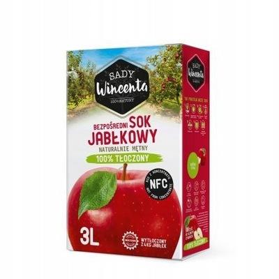 Здоровый Сок 100 % Яблочный 3L мутная отжима