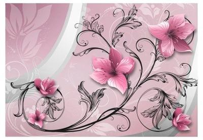 Nástenné maľby optická 3d kvetinový vzor, dekor 350x245