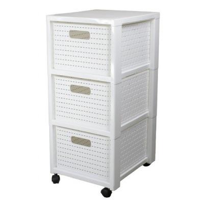 Книжный шкаф комод с 3 корзинами COUNTRY Белый