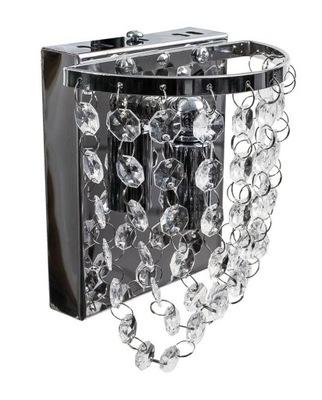 PODPRSENKA GLAMOUR Ala crystal moderné strieborné