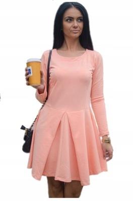 4f6f38152cff7b M39 Modna sukienka w TRÓJKĄTY R44 sale. W107 SALE Sukienka Rozkloszowana  Kontrafałdy S M L