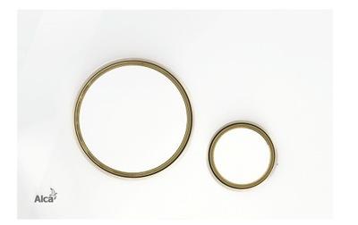 biele Tlačidlo-pohlavie/Golden-pol Alcaplast Tenké M775