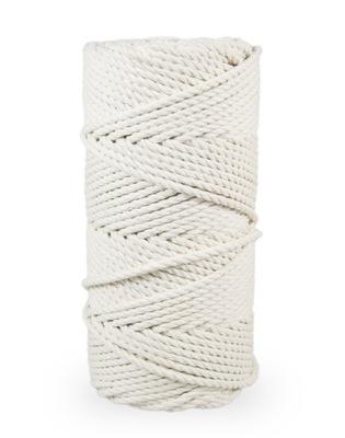 шнурок хлопок для makramy - бежевый 5мм 100м