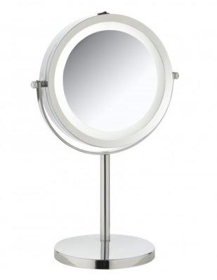 Zrkadlá (LED) KOZMETICKÉ ZRKADLO OTOČENÍM LED PODSVIETENIE