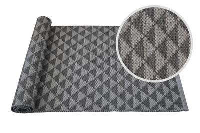 Dlažba 60x140 koberce, ručne vyrobené geometrické sivá