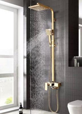 Zlatá dažďová sprchová batéria, luxusná sada
