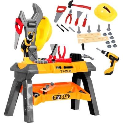 Detská dielna Workshop nástroje pre deti +PRILBA + vŕtačka 50